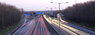 Timelapse image of traffic on a motorway