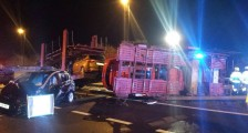 M2 J6 - J7 closure for over turned car transporter