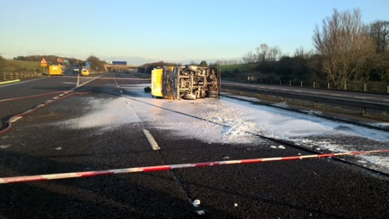 M5 J24-J23 Both Directions Kerosene spill closure
